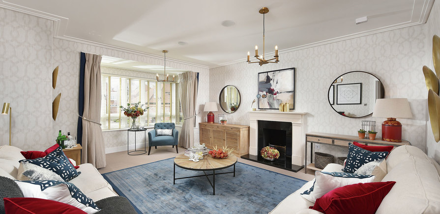 Berkeley, Edenbrook, Plot 390, Living Room, Interior