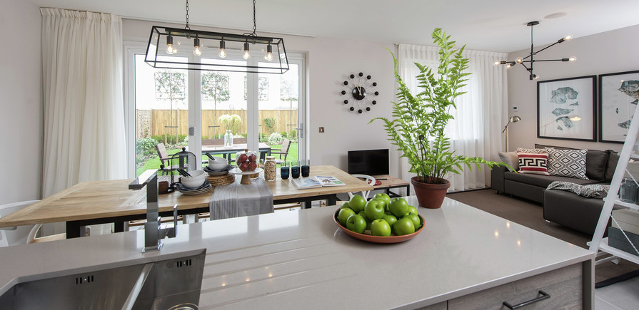 Berkeley, Edenbrook, Kitchen view01, Plot 309