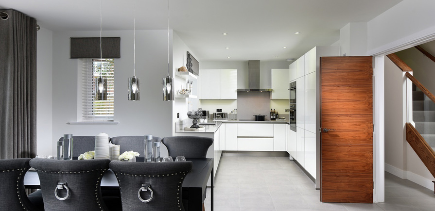 Berkeley, Edenbrook, Dining and Kitchen, Plot 152