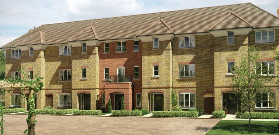 Berkeley, Imperial Square, Finchley, CGI, Exterior, Houses