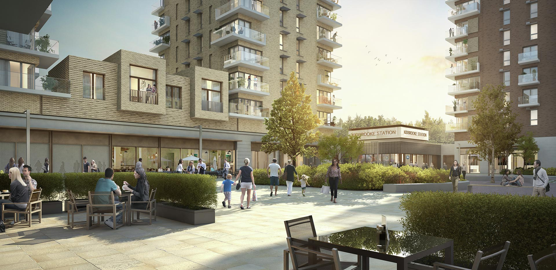 Berkeley, Kidbrooke Village, The Square, Lobby, Exterior