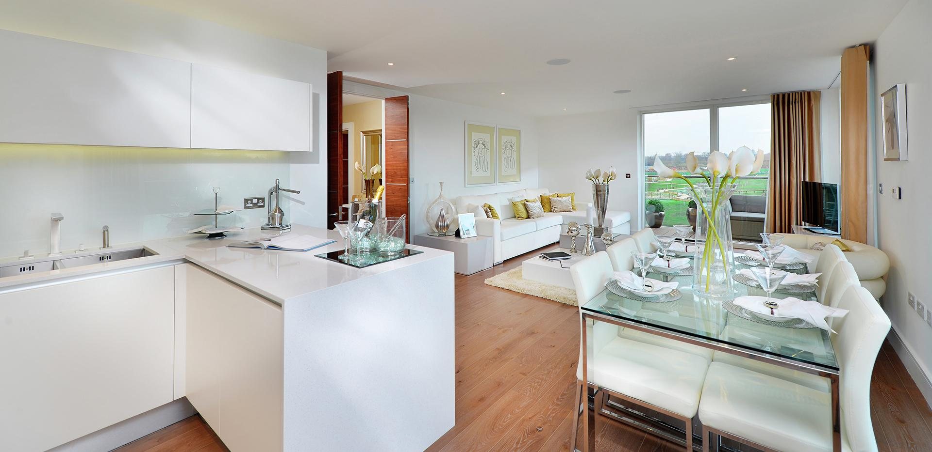 Berkeley Homes, Kidbrooke Village, Blackheath Quarter, Interiors, Kitchen, Sofa , Dining Room