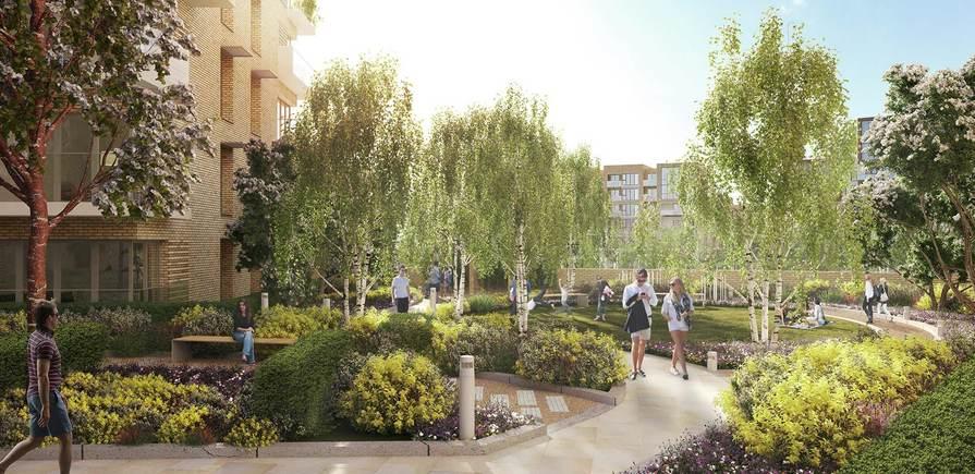 Berkeley, Kidbrooke Village, The Square, Garden, Exterior