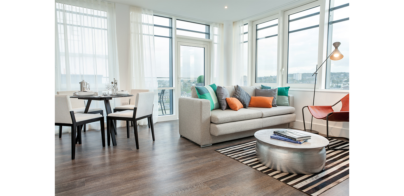 Berkeley, Cannon Square, Royal Arsenal Riverside, living area, Show Apartment