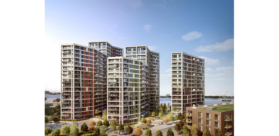Berkeley, Royal Arsenal Riverside, Waterfront, Bblocks