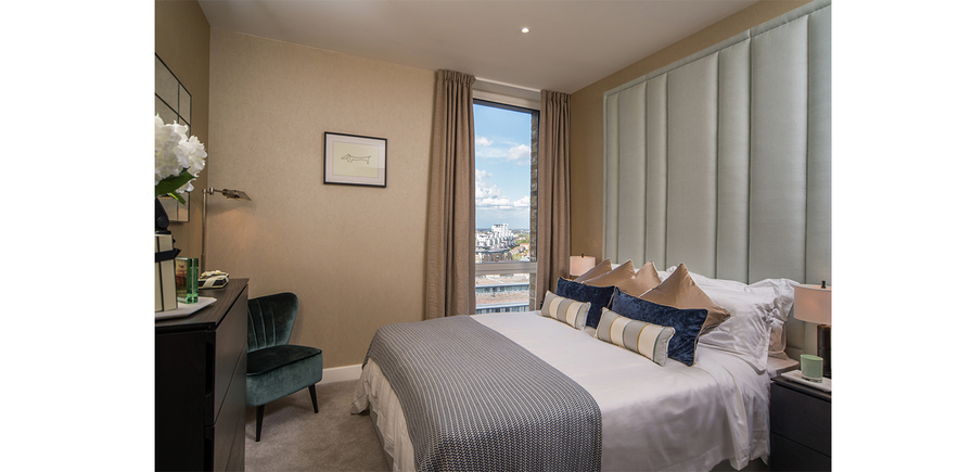 Berkeley, Waterfront, Royal Arsenal Riverside, Bedroom Interior, Show Apartment