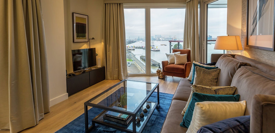 Berkeley, Royal Arsenal Riverside, Waterfront Show Apartment, Interior, Lounge