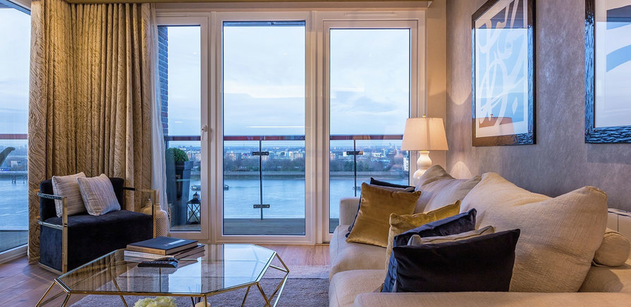 Berkeley, Royal Arsenal Riverside, Waterfront Show Apartment, Lounge & Exterior
