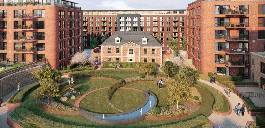 Berkeley, Royal Arsenal Riverside Pavilion Square, CGI, Courtyard