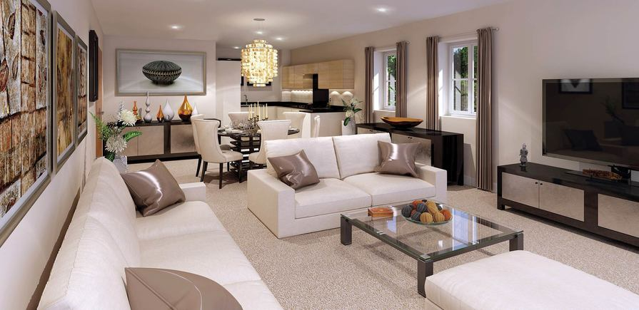 Berkeley, Taplow Riverside, Interior, Indicative Living Room