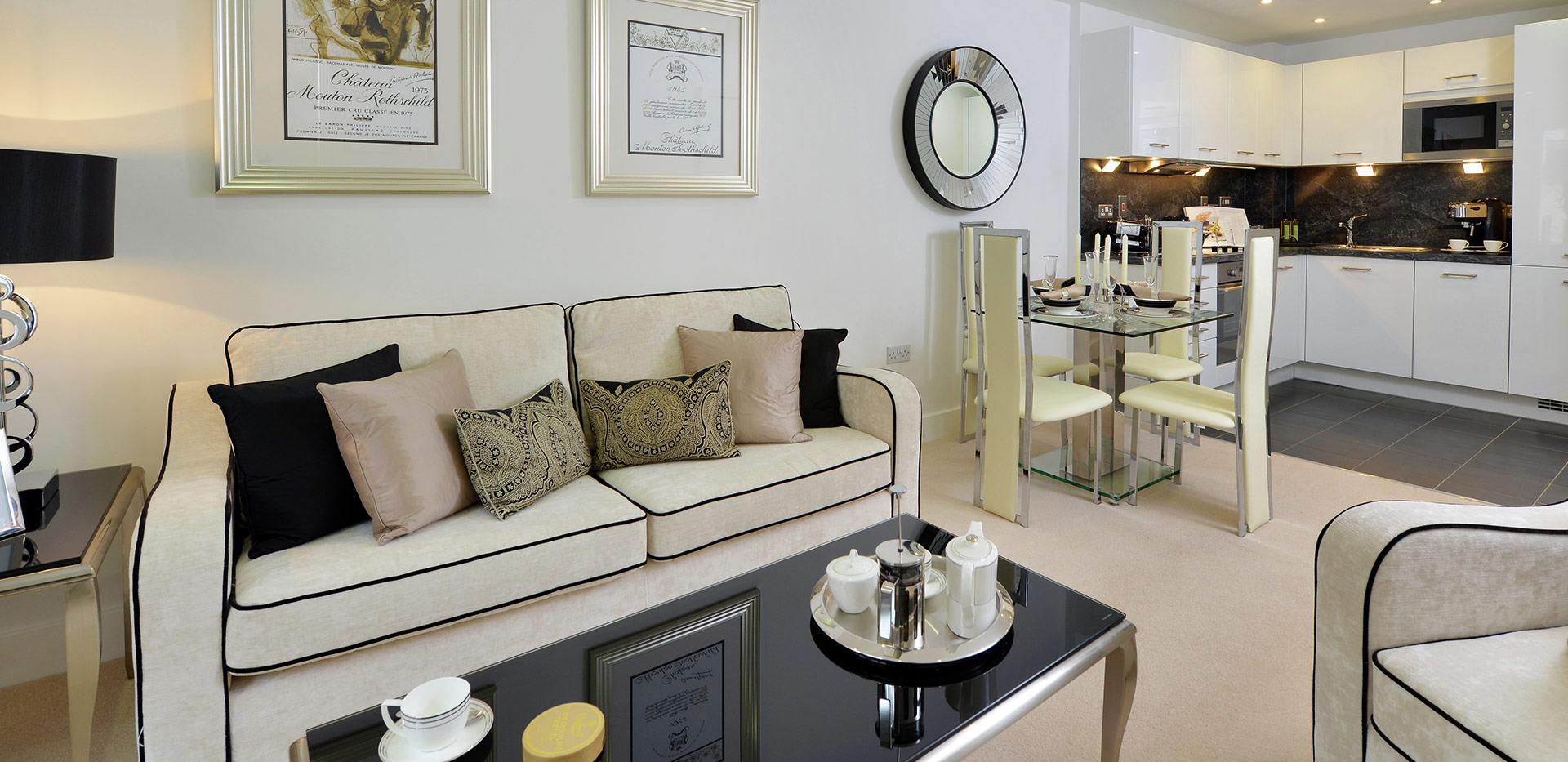 Berkeley, The Waterside at Royal Worcester, Interior, Living, Dining Area