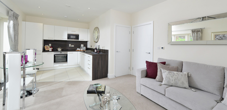 Berkeley, The Waterside at Royal Worcester,Showhome, Kitchen, Living Area, Dining Area, Interior