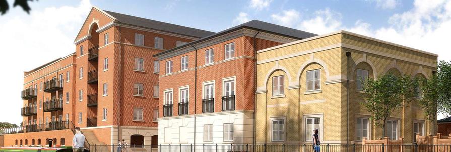 Berkeley, Waterside, Billingsley Lodge and Fonthill Court, Exterior