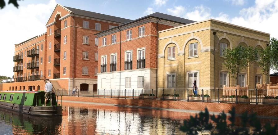 Berkeley, The Waterside, Billingsley Lodge and Fonthill Court, Exterior, CGI