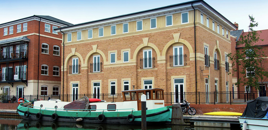 The waterside at royal worcester in worcester is built by for The berkeley house