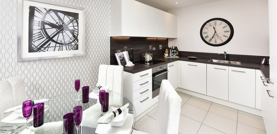 Berkeley, The Waterside at Royal Worcester, Showhome, Kitchen