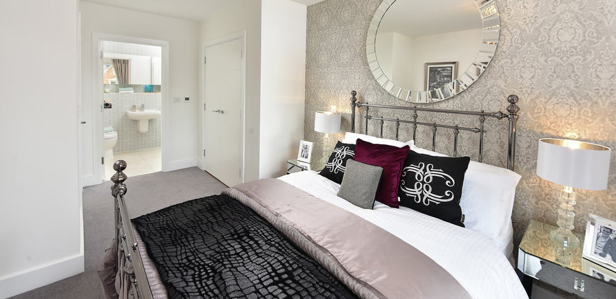 Berkeley, The Waterside at Royal Worcester, Showhome Master Bedroom, Interior