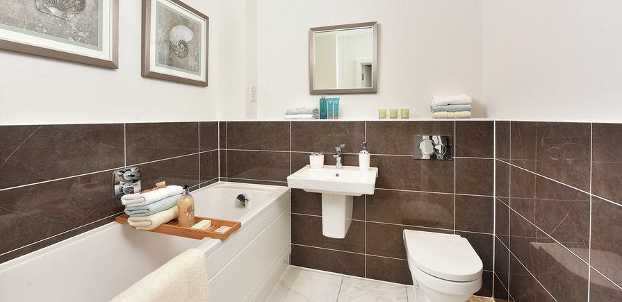 Berkeley, The Waterside at Royal Worcester, Showhome Bathroom, Interior