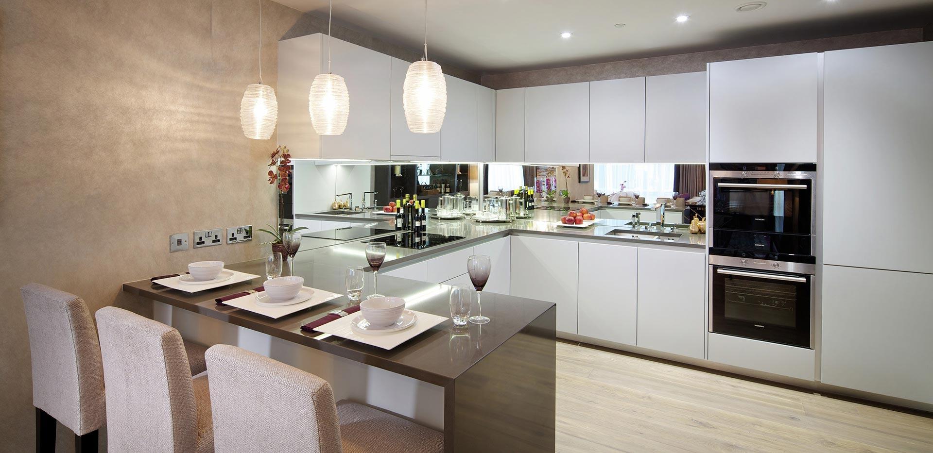 Berkeley, Vista, Show Apartment Kitchen