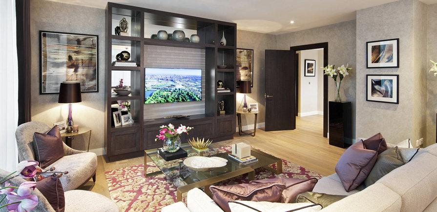 Berkeley, Vista, Show Apartment Living Room