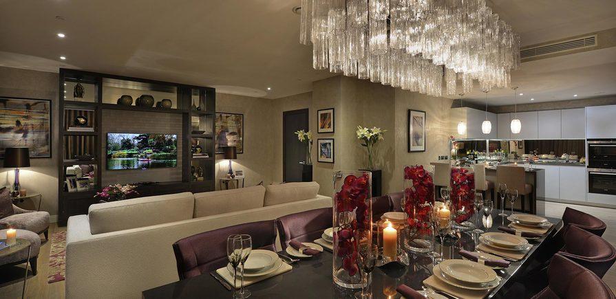 Berkeley, Vista, Show Apartment Living, Dining Room