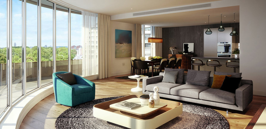 Berkeley, Vista, Living Room, Day, Interior