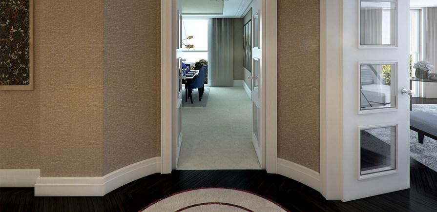 Berkeley, Wimbledon Hill Park, entrance hallway