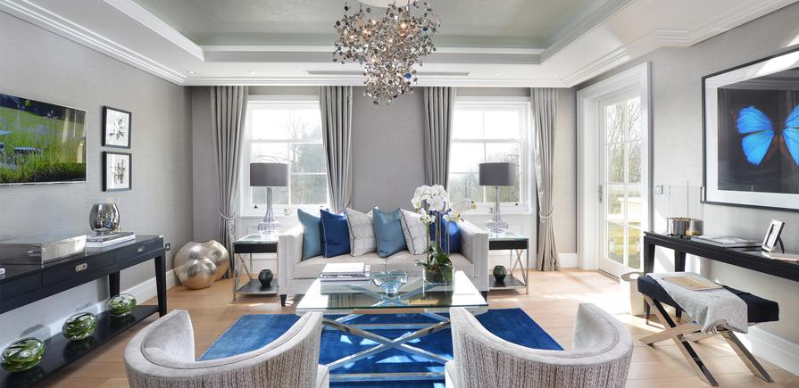 Berkeley, Wimbledon Hill Park, Interior, Living Room