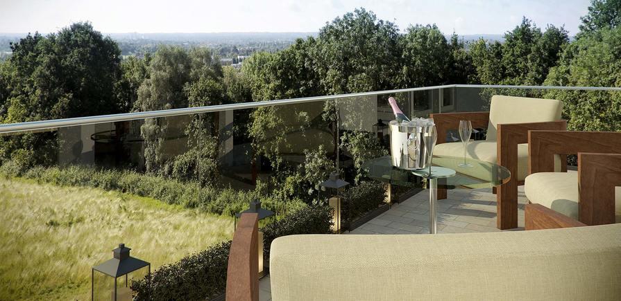 Berkeley, Wimbledon Hill Park, Balcony