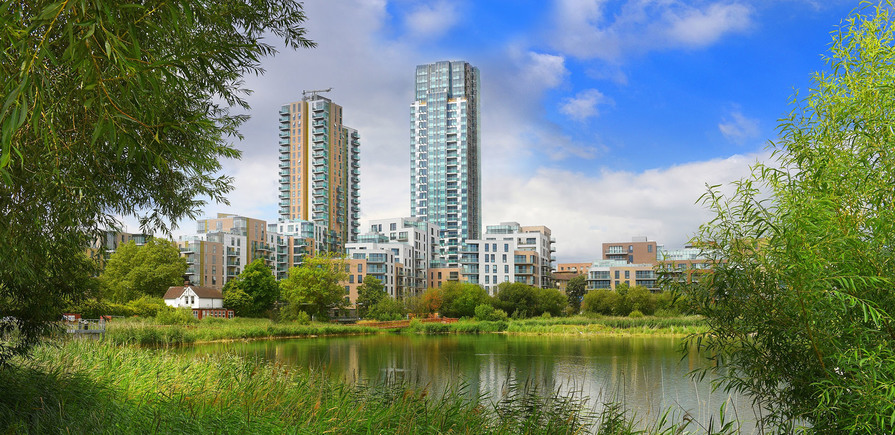Woodberry Down, View Across the Reservoir