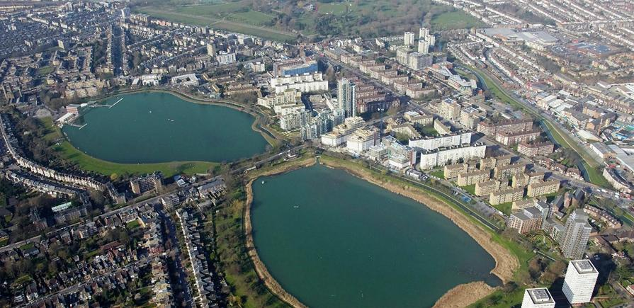 Berkeley, Woodberry Down, Aerial View, Exterior