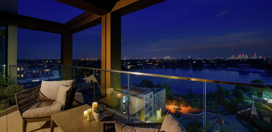 Berkeley, Woodberry Down, Interior, Balcony, Dusk View