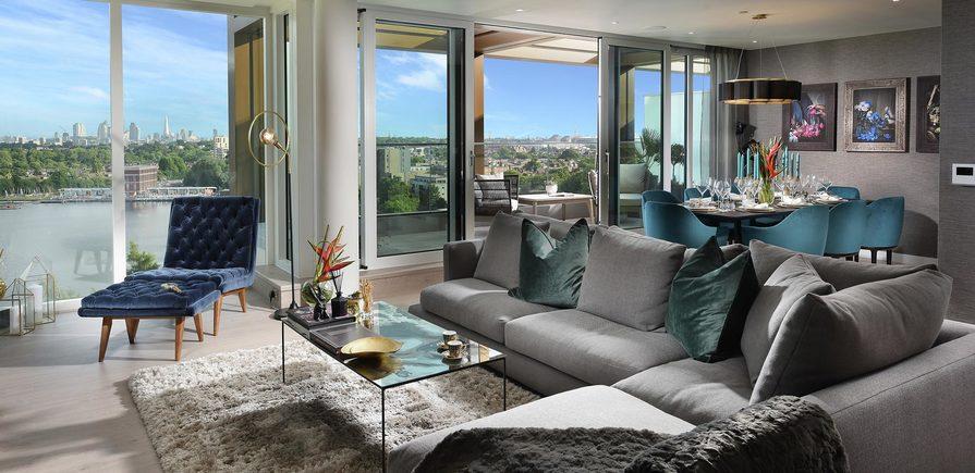 Berkeley, Woodberry Down, Interior, Living Room