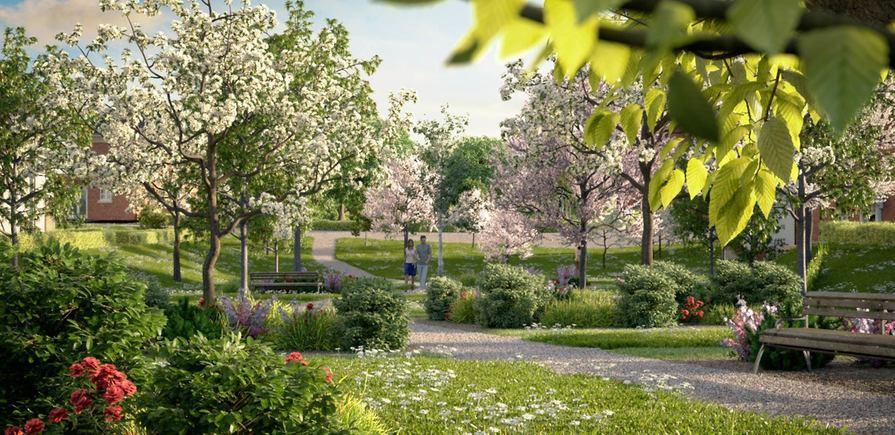 Berkeley, Woodhurst Park, Orchard