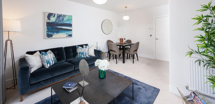 Berkeley, Edenbrook Village, Interior, Living Room
