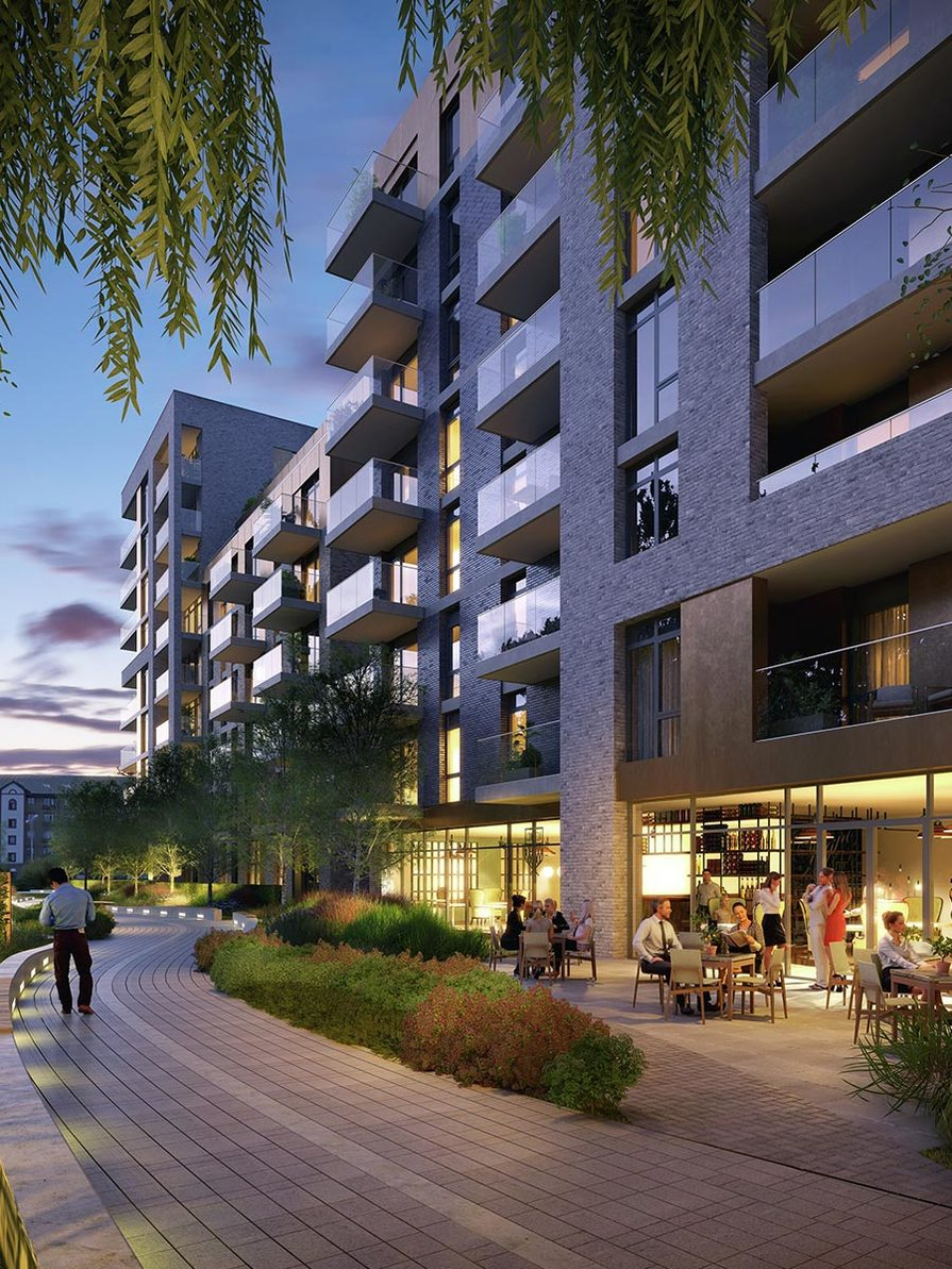 Berkeley, Queenshurst, Apartments, Pathway, Dusk, Exterior