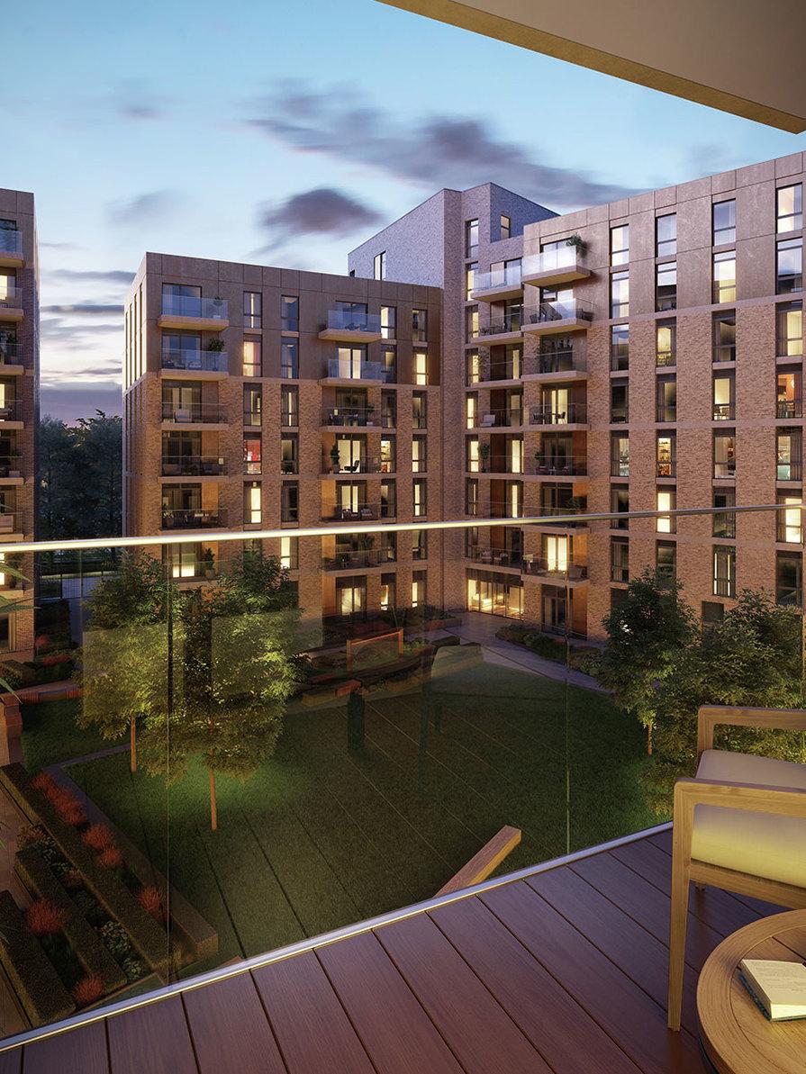 Berkeley, Queenshurst, Apartments, Balcony, Dusk, Exterior