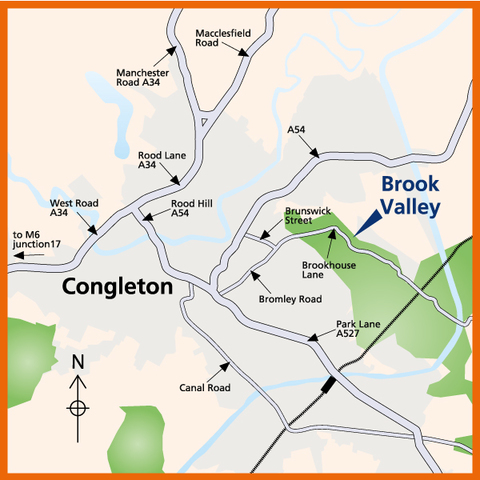 Brook Valley in Congleton