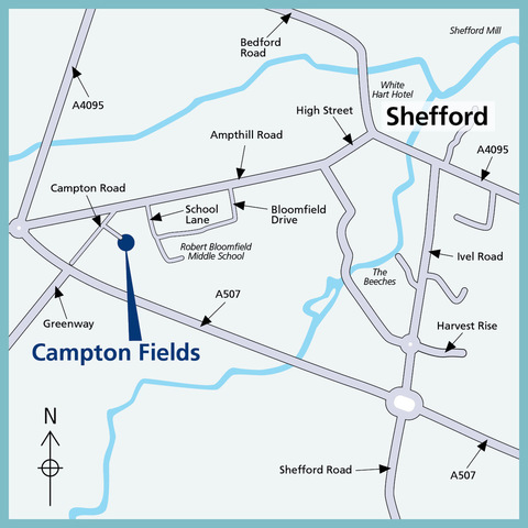 Campton Fields in Shefford