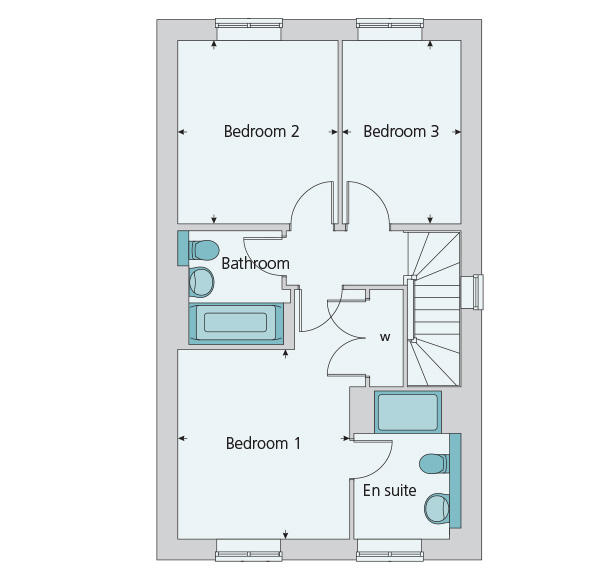 Semi detached house plot the whittington for 340 000 with for 10ft x 7ft garage door