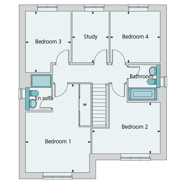 4 bedroom detached house in glassthorpe grange plot the for 10ft x 7ft garage door