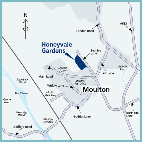 Honeyvale Gardens in Davenham