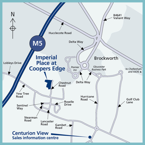 Imperial Place at Coopers Edge in Brockworth