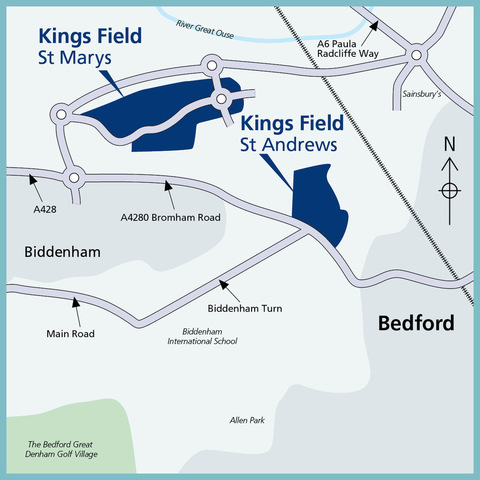 St Andrews, Kings Field  in Bedford