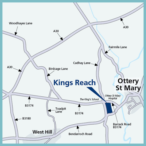 Kings Reach in Ottery St. Mary