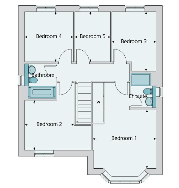 5 bedroom detached house plot the oxford in millwood meadows for 10ft x 7ft garage door
