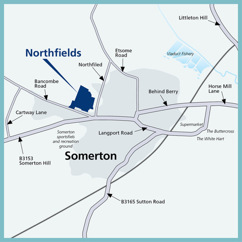 Northfields in Somerton