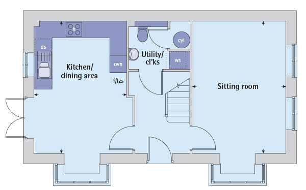 Semi Detached House Plot The Sheringham for 294995 with 3 bedrooms – Bovis Homes Floor Plans