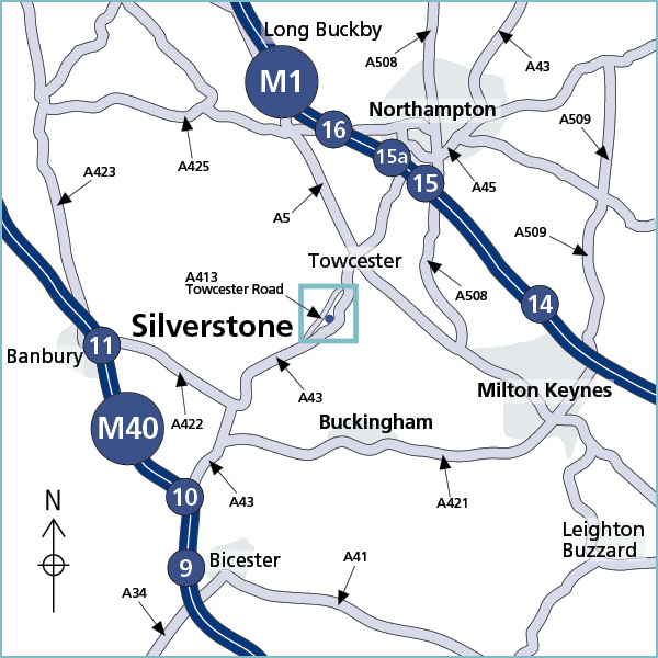 Site directions region map