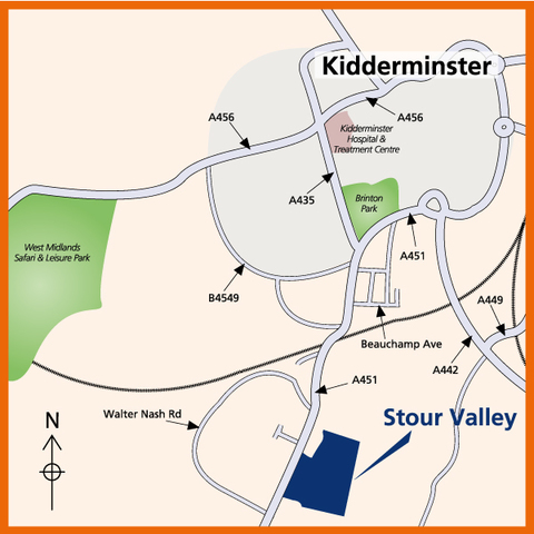 Stour Valley in Kidderminster